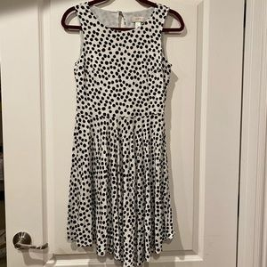 Ann Taylor LOFT Polka Dot Dress Small